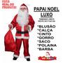Roupa Papai Noel Fantasia Feliz Natal - Completa - Mod. Luxo