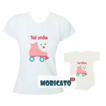 Tal Mãe Tal Filha Camisetas Iguais - Patins