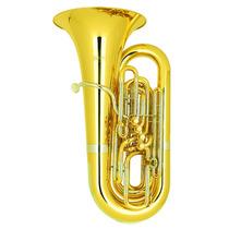 Tuba Sinfônica 4/4 4 Pistos Laqueada Hoyden Htbs-75l Sib