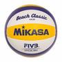 Bola De Volei De Praia Mikasa Couro Sintético Oficial Vx30