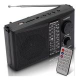 Mini Caixa De Som Rádio Fm Am Sw Portátil Mp3 Player Usb Sd