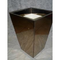 Vaso Cachepot Conico Mdf Revestido Espelho Bronze(promoçâo)