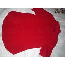 Camisa Feminina Veludo Vermelha Tamanho G
