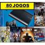 Ps3 Super Slim 500 Gb + 80 Jogos Originais + Fifa17 + Gta 5