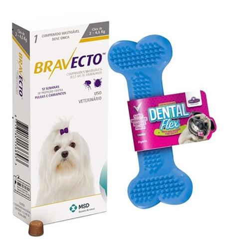 Bravecto Antipulgas E Carrapatos Cães De 2 A 4,5kg + Brinde