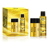 Kit Masculino Golden Hours Perfume 100ml E Body Spray 200ml