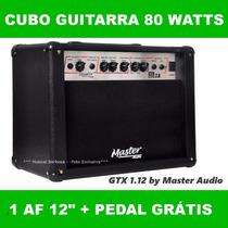 Cubo Ampli Caixa Guitarra Gtx 1.12 80 Watts Af 12 + Brinde