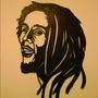 Quadro Famosos Bob Marley Em Mdf Vazado 6mm