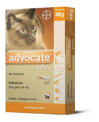 Antipulgas Advocate Gatos Até 4kg 1 Pipeta