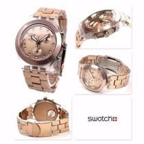 Relógio Swatch Chrono Full Blooded Caramel Svck4047ag Frete