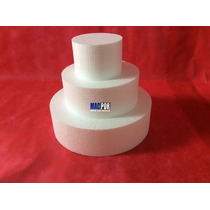 Bolo Fake-isopor Com 3 Peças-(35x25x15) Espessura 10cm Cada
