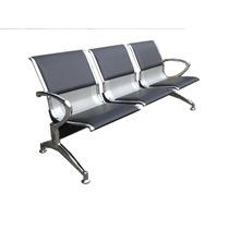 Longarina Aeroporto Aço 3 Lug Consultório Clínica Estofada
