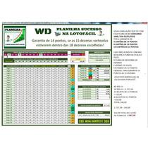 Planilha Lotofácil Garantia 14 Acertos 100% Em 12 Cartelas