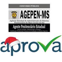 Agepen Ms 2016 - Diversos Cargos A Escolha - Aprova