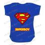 Body Super Man Bebê Infantil Personagens Personalizado Nome