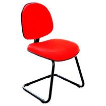 Cadeira Escritório Fixa Executiva Cp20 - Vermelha - J.serra
