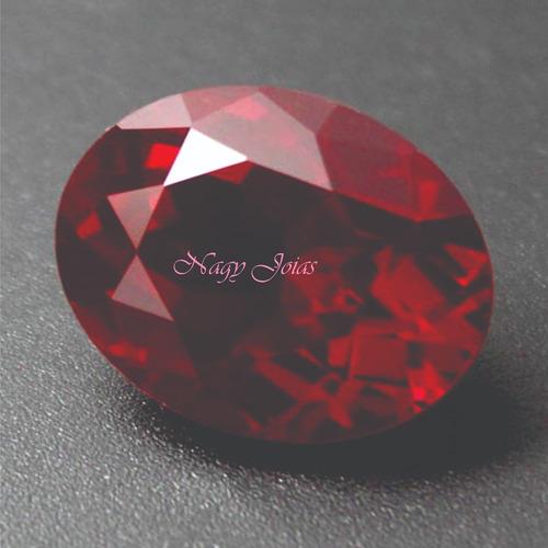 fe785d192d6 Rubi Pedra Preciosa Vermelho Brasa 10mm X 14mm Com 6.3 Cts
