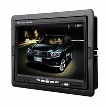 Tela Lcd 7 Pol Portátil Monitor Carro Ou Cftv Digital+fonte