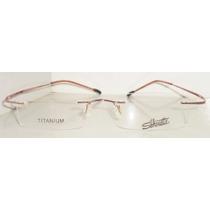Armação Oculos Grau Flex Silhouette Titanium Sem Aro Rosa