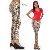 Calça Jeans Preta Resinada Skinny Animal Oncinha Sino Bronze