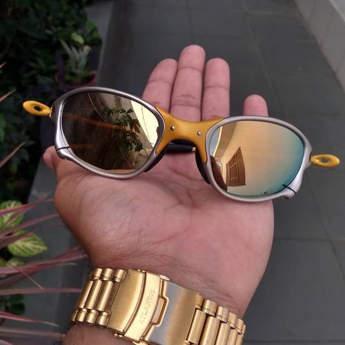 fdb3dc015 Óculos Oakley Juliet 24k Gold Double X Polarizado Original à venda ...