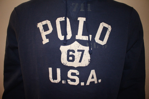 ea571b11a4 Moletom Masculino Polo Ralph Lauren Estampado Azul Marinho - R  229 ...