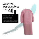 Avental Descartável Tnt Hospitalar Manga Longa Tnt 40g