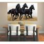Adesivo De Parede Animais Cavalo Galopando Cowboy Aras