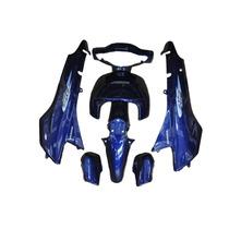 Kit Plásticos Carenagem Honda Biz 100 Azul 2005+adesivo