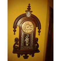 Centenário Ansonia Habana Silver Wall Clock - New York/1894