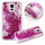 Case Capa Capinha Samsung Galaxy S5 Glitter Pink Barato