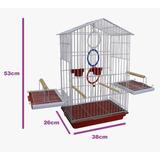 Gaiola P/ Calopsita, Pássaros Pintura Epoxi + Brinde Argolas