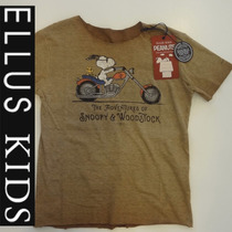 Camiseta Ellus Kids Meninos Manga Curta Snoop Woodstock