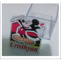 Caixinha Acrilíca 4x4 Personalisada Mickey