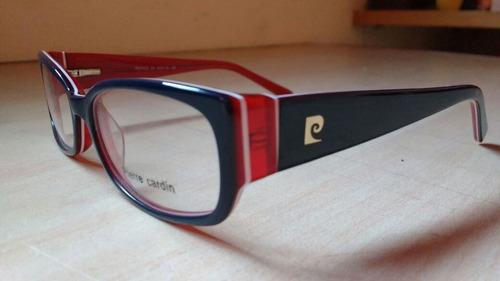 Armação Óculos Feminino Retangular Tricolor Azul. R  249 56c787d320