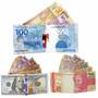 50 Carteira Super Slim Nota Dinheiro 100 Dolar Real 500 Euro