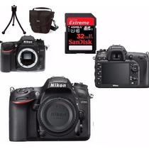 Câmera Nikon D7200 Corpo+bolsa+tripé+32gb C/10+kit Limpeza!