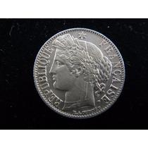 5 Gr Prata 835 Moeda 1 Franc França 1888 Extraordinária Fc
