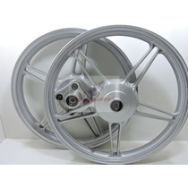 Roda Magna Scud Fan125 2000 A 2008 Ks/es Prata Freio Lona 5p