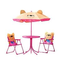 Conjunto Infantil Ursinho Mor Mesa Cadeira E Guarda Sol