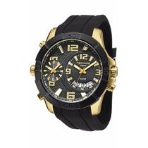 Relógio Technos Masculino Legacy Dual Time T205fj/8p