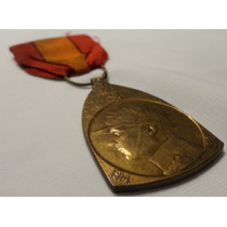 Medalha Belga Comemorativa Da Campanha 1914-1918
