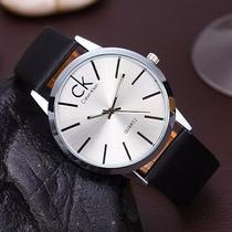 Relógio Calvin Klein Pulseira Em Couro Pronta Entrega
