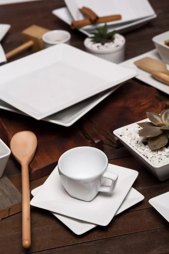 Aparelho De Jantar E Chá 42 Peças Oxford Quartier White Luxo R