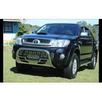 Para-choque De Impulsão / Quebra Mato Cromado Toyota Hilux