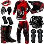 Kit Equipamento Pro Tork Jett Veneno Piloto Trilha Motocross