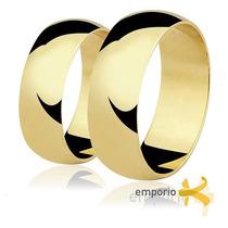 Par Alianças Ouro 18k - 13 Gramas 8mm Noivado E Casamento