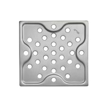 Ralo Quadrado Pequeno Aço Inox Prata 10cm Tramontina