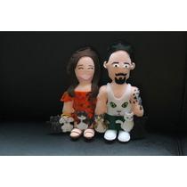 Casal Toy Art Caricatura Personalizada Feltro (presente)