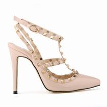 Sapato Importado Feminino Sandália Tiras - Frete Grátis